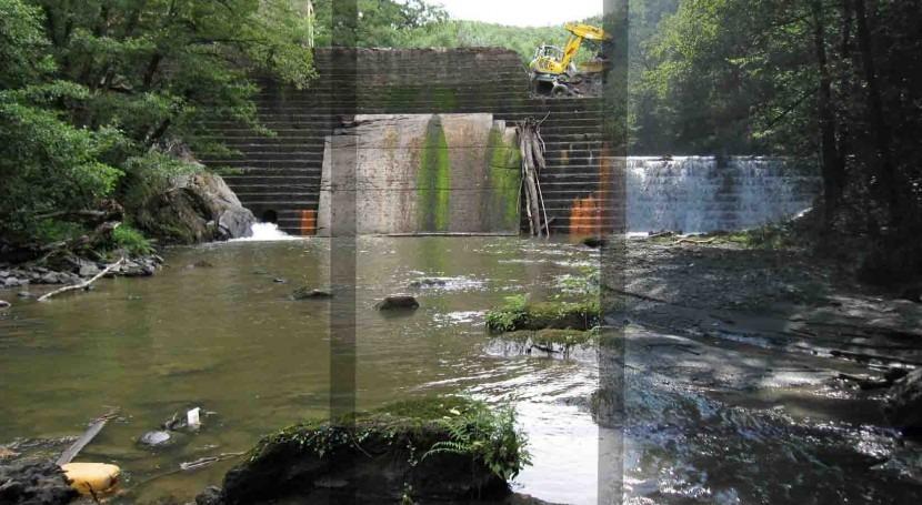 URA concluye demolición presa Inturia río Leitzaran