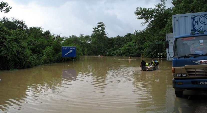Imagen de la inundación sufrida en Malasia en 2007