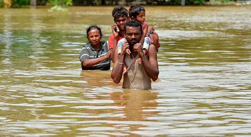 140.000 niños se han visto afectados peores inundaciones Sri Lanka