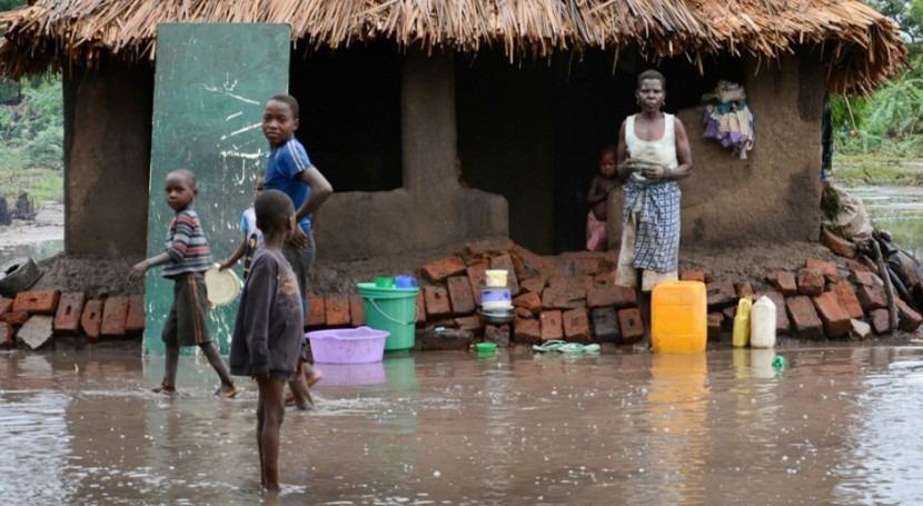 Inundaciones en Malawi. Foto: PNUD/Arjan van de Merwe