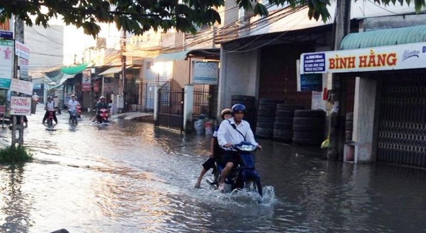 Inundaciones en Can Tho, Vietnam.
