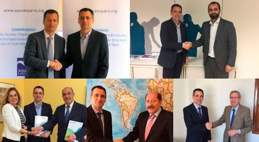 asociaciones líderes sector agua confirman respaldo iwater
