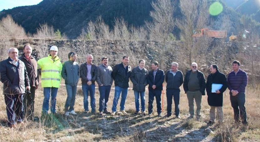 CHE da comienzo retirada ataguía construida río Ara presa Jánovas