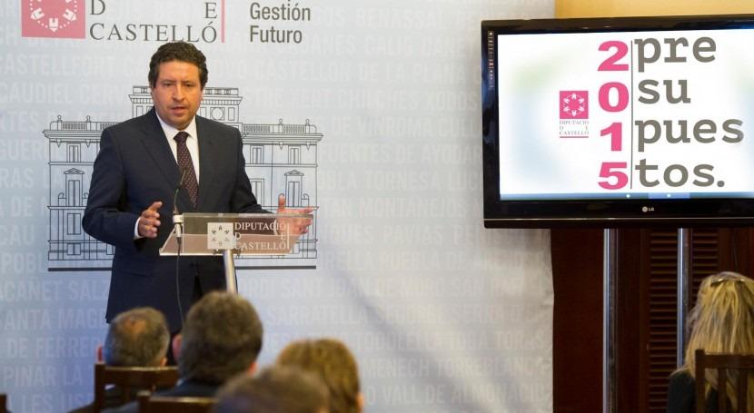 Javier Moliner, presidente de la Diputación de Castellón, en una imagen de archivo