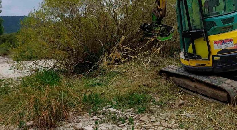 Se retoman trabajos ríos Burgos paliar efectos crecidas