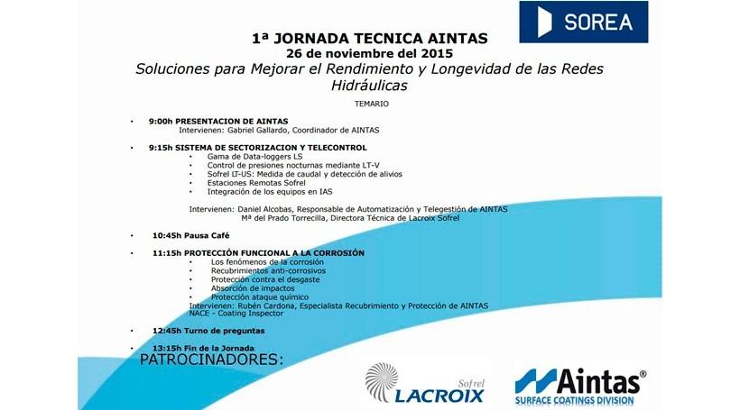 1ª Jornadas Técnicas: Soluciones Mejorar Rendimiento y Longevidad redes Hidráulicas