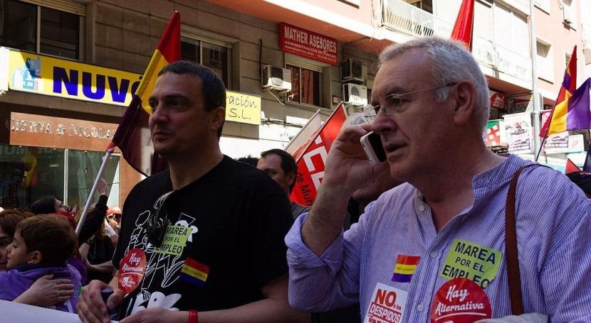 José Antonio Pujante y Cayo Lara (imagen de archivo)