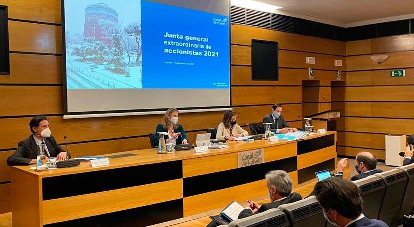 Junta Accionistas aprueba fusión absorción Hispanagua Canal Isabel II