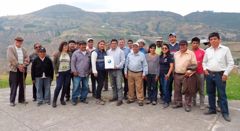 Juntas Agua Potable y Riego norte Ecuador recibieron personerías jurídicas