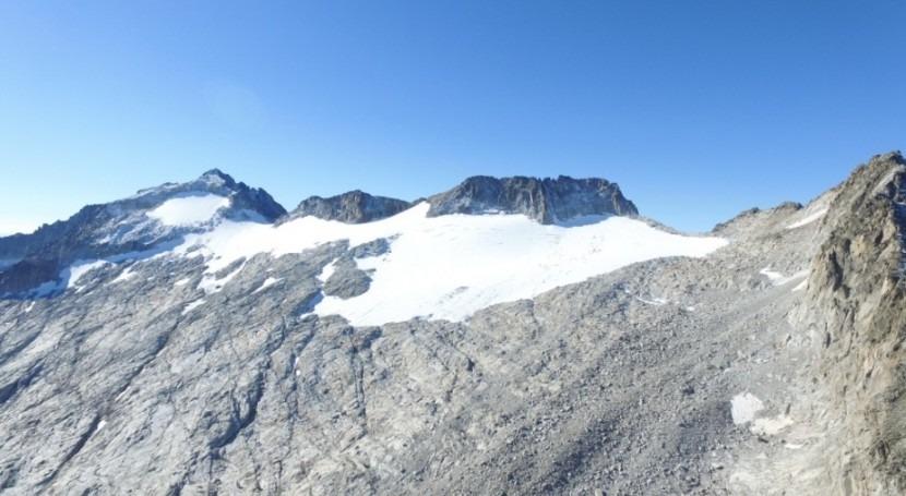 Estimada evolución glaciar Maladeta (Huesca) 2100 cambio climático