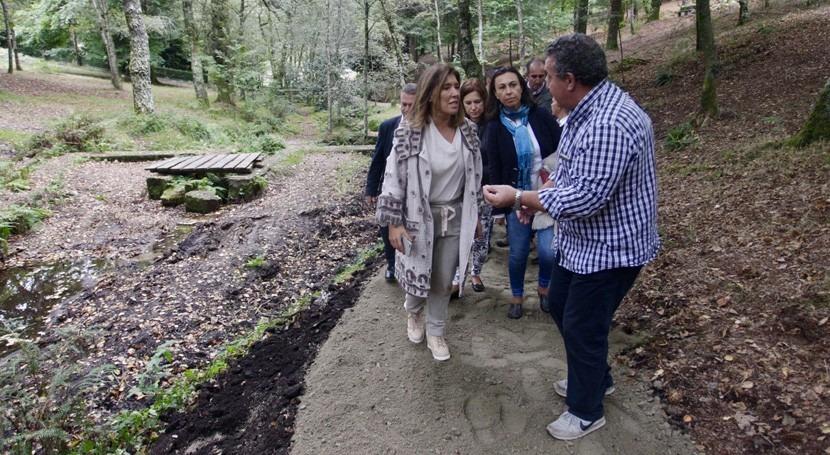 senderos entorno lago gallego Castiñeiras, Marín, finalizarán este octubre