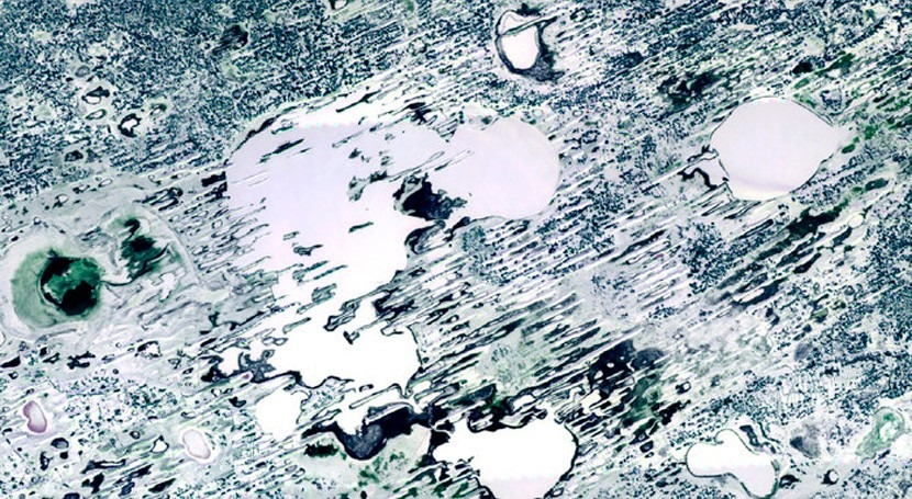 Lago Chany, vista Proba-V