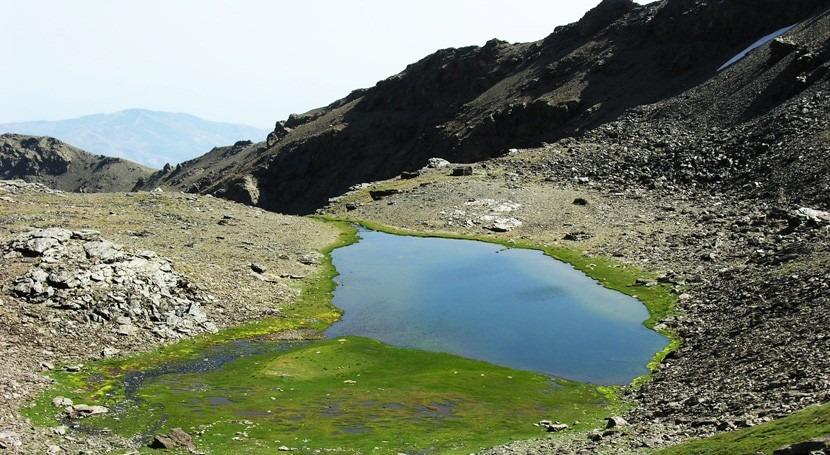 cambio climático y polvo Sáhara afectan lagunas alta montaña Sierra Nevada