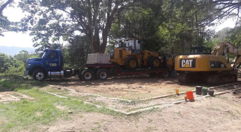 obras laguna Sonso se refuerzan llegada nueva maquinaria