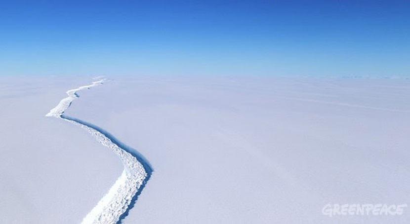 deshielo Antártida es alerta roja cambio climático, Greenpeace