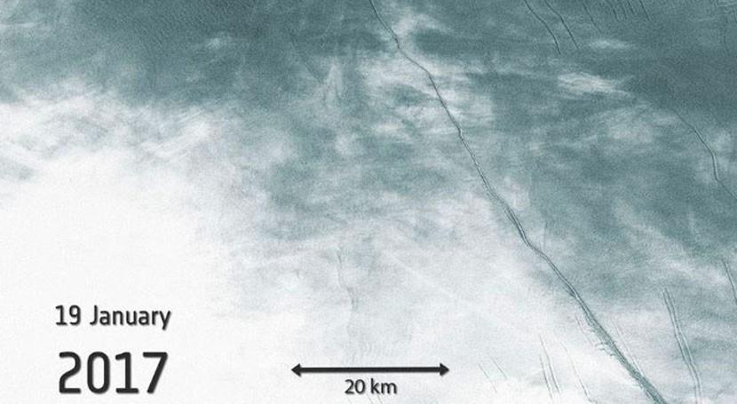 ¿Cómo se resquebraja enorme barrera hielo antártica Larsen C?
