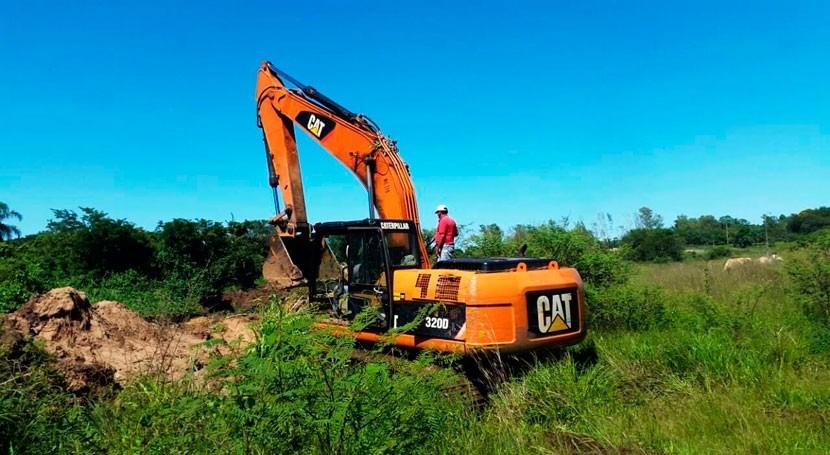 Paraguay realizó trabajos limpieza y ampliación canal arroyo Yukyry San Lorenzo