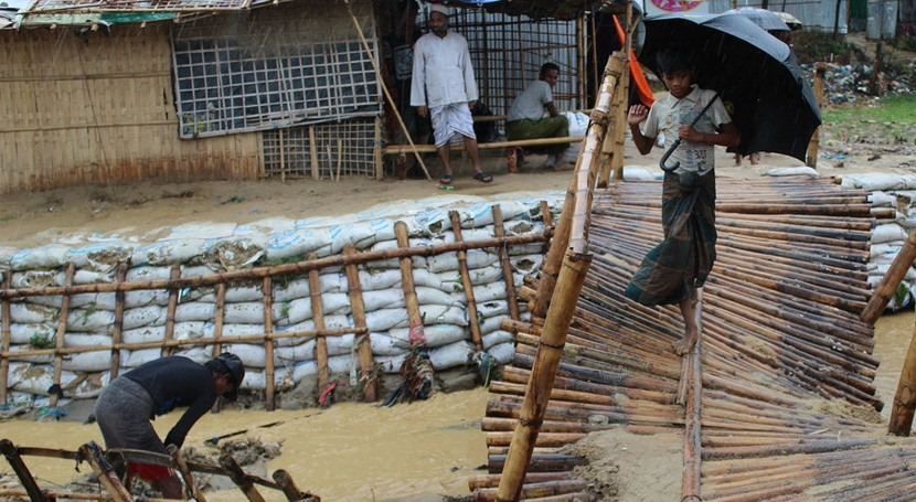 lluvias arrasan albergues rohinyás Bangladesh