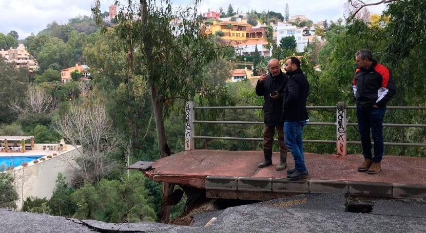 temporal lluvia Málaga provoca 250 incidencias