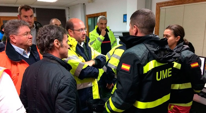 servicios emergencia Murcia atienden 1.520 incidencias lluvias fin semana