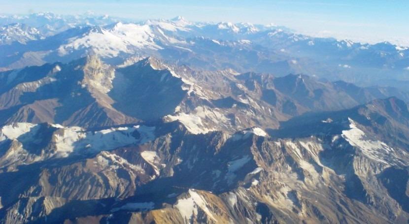 nieve Cordillera Andes, tan limpia como Ártico canadiense