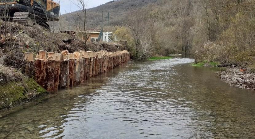 URA restaura tramo ribera río Ega Azazeta Maeztu, Álava