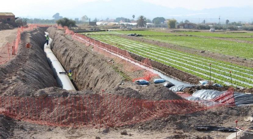 Inversión 1,4 millones tubería que llevará agua desalada al Valle Guadalentín