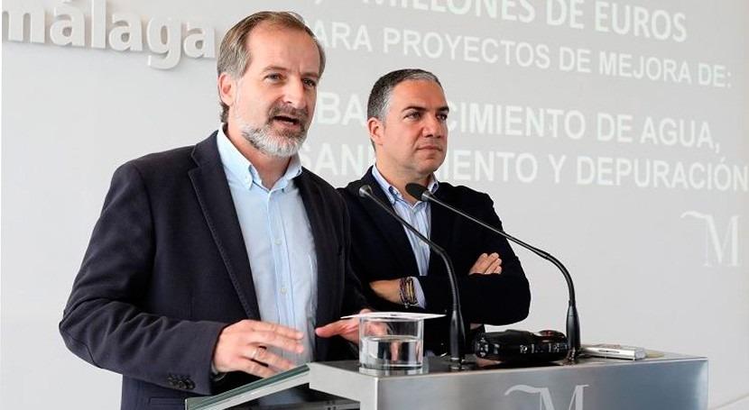 Málaga invertirá 9,3 millones euros abastecimiento, saneamiento y depuración 2017