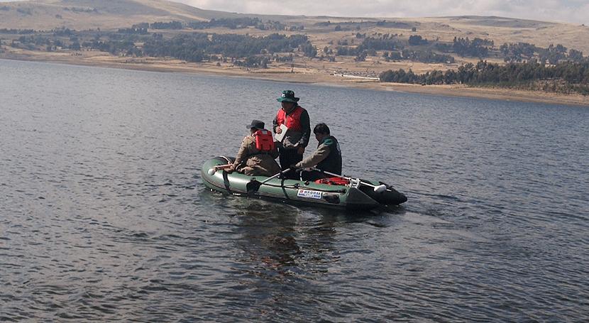 ANA Perú entrega estudios prospección batimétrica lagunas cuenca Mantaro