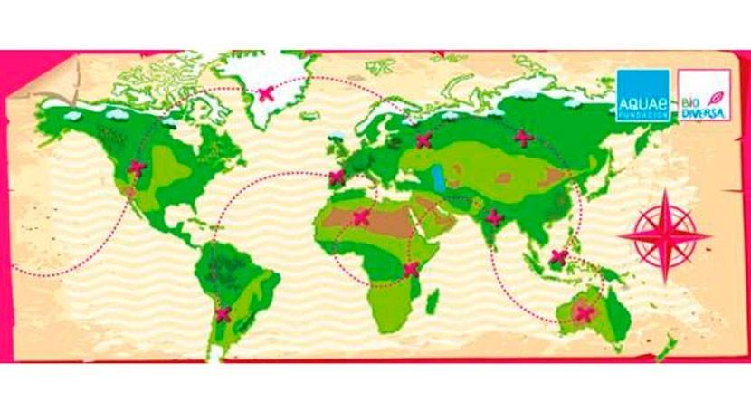 Descubre riqueza natural planeta mapa reservas biosfera Aquae