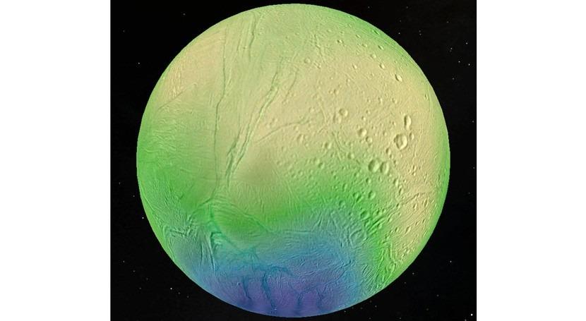 """espesor hielo luna Saturno Encelado es """"fino como papel"""""""
