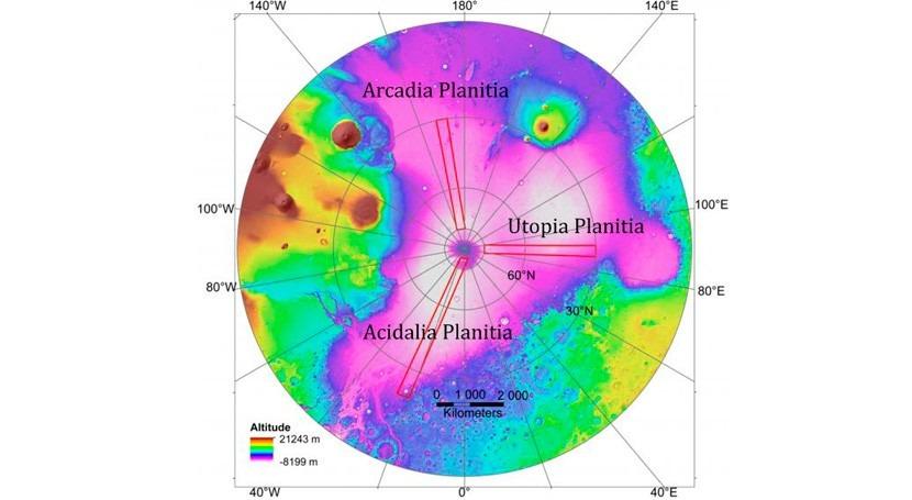 nueva técnica mapea depósitos recientes hielo Marte