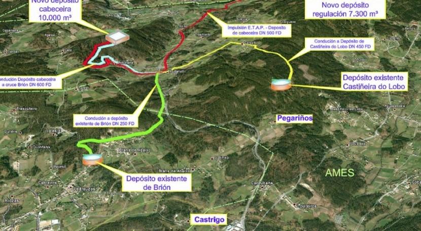 Mapa de localización de la ETAP (Xunta).