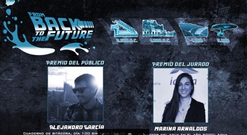 """Alejandro García y Marina Arnaldos, ganadores concurso """"From back to the future"""" YWP Spain"""