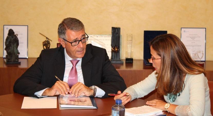 presidente CHS y alcaldesa Cartagena acuerdan colaborar gestionar cuenca