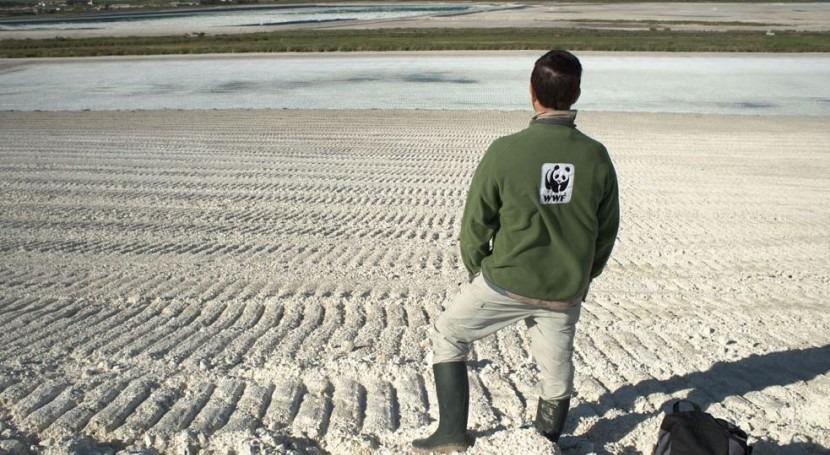 Balsa de fosfoyesos (Imagen de WWF).
