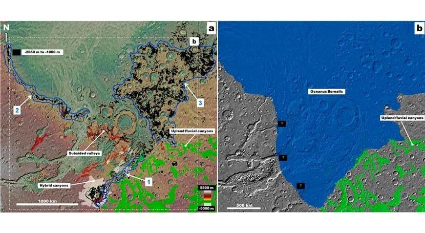 acuíferos provocaron grandes inundaciones superficie Marte