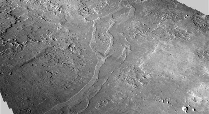 Descubiertos 17.000 kilómetros ríos fósiles llanura al norte Marte