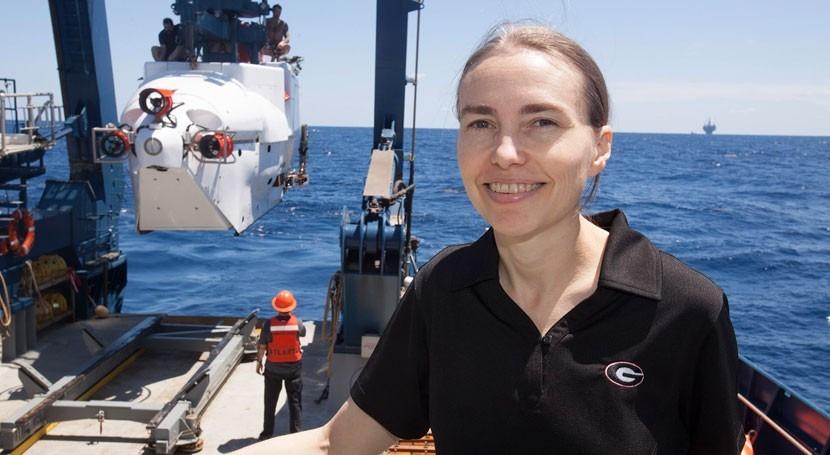 Samantha Joy, profesora de Ciencias del Mar de la 'Athletic Association' de la Universidad de Georgia (Universidad de Georgia).