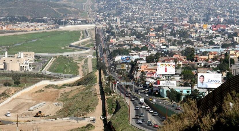 Frontera entre Estados Unidos y México (Wikipedia/CC).