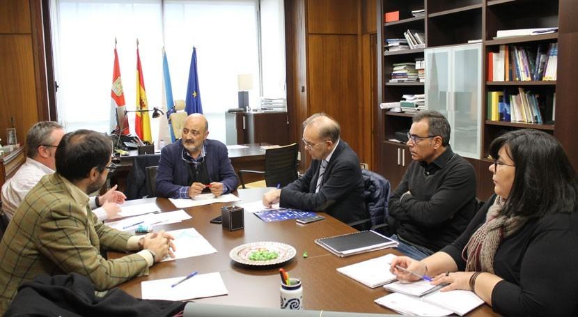 presidente CHMS y alcalde Ponteareas acuerdan mejorar saneamiento municipio