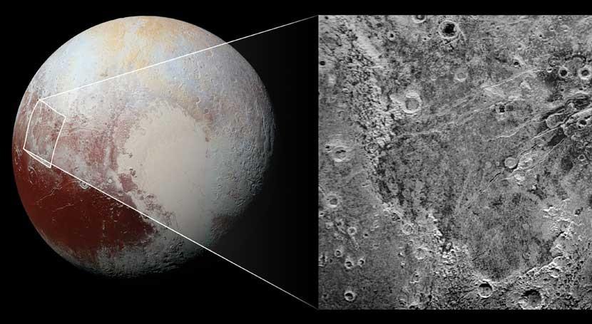 'mordisco' gigante Plutón deja al descubierto capa hielo agua