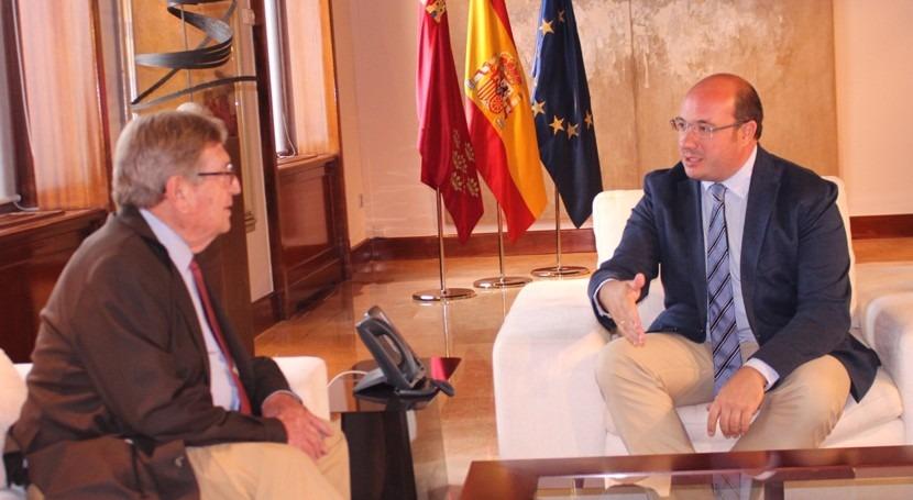 """gobierno murciano reitera """"apoyo absoluto"""" petición hídrica regantes"""