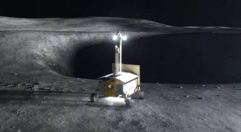 Buscar hielo agua polos Luna, más cerca nuevo rover diseñado NASA
