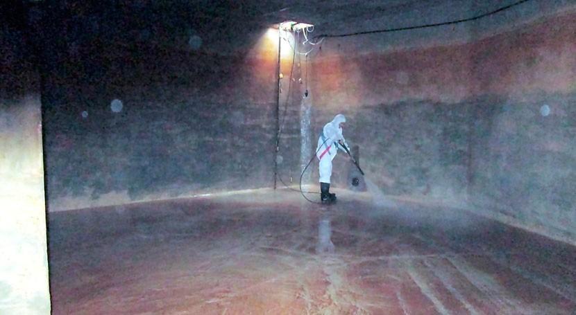 marcha Plan Limpieza y Desinfección 2017 depósitos agua Santa Eulalia