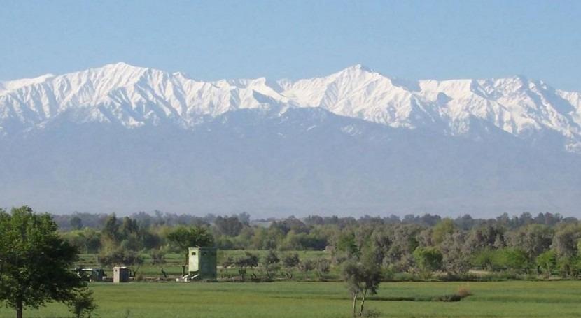 Montañas nevadas en Afganistán (Wikipedia/CC).
