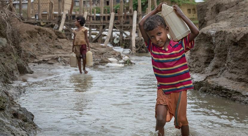 falta agua potable es más mortal que balas niños zonas conflicto
