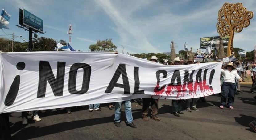 Duras protestas por la construcción del Canal (EP)