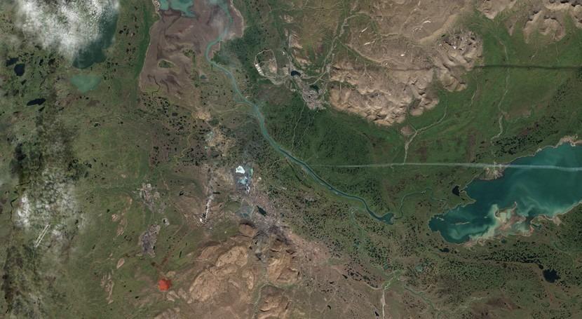 Norilsk, ciudad siberiana que tiñe ríos rojo contaminación