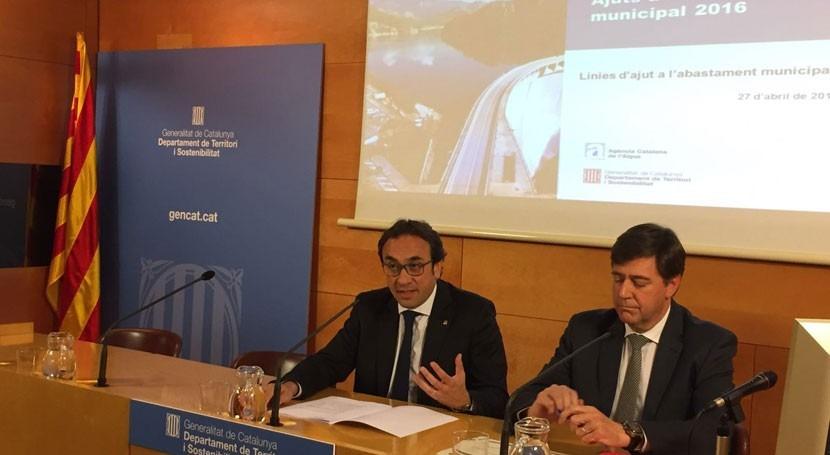 Nueva línea ayudas garantizar agua municipios catalanes problemas abastecimiento